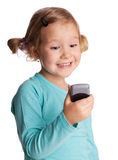 Child with phone Stock Photography