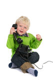 Child on the phone Royalty Free Stock Photo