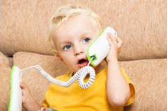 Child on the phone Stock Image