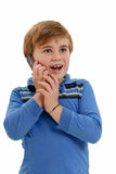 Child On Phone Royalty Free Stock Images