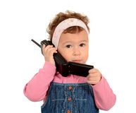Child with phone Royalty Free Stock Image