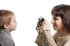 Child photograph Stock Images