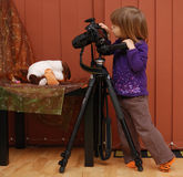 Child Photographer Stock Photos