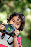 Child photographer Royalty Free Stock Photography