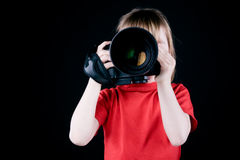 The child - photographer. Royalty Free Stock Photography