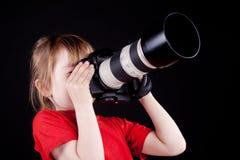 The child - photographer. Royalty Free Stock Photo
