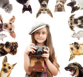 child photographer Stock Photography
