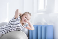 Child during physiotherapy session Royalty Free Stock Photos