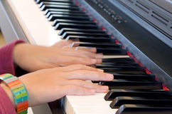 Child piano Royalty Free Stock Photography