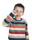 Child pick his nose Stock Image