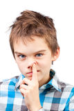 Child picking nose Royalty Free Stock Images