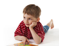Child with a picture Stock Image