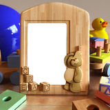 Child picture frame scene Royalty Free Stock Image