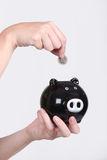 Child with a piggy bank Stock Image