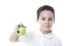 Child with piggy bank. Stock Image