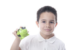 Child with piggy bank. Stock Images