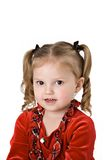 Child in Pigtaiils Stock Images