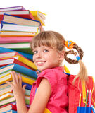 Child with pile of books. Stock Photography