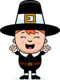Child Pilgrim Excited Stock Image
