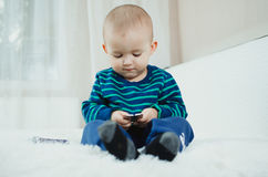 Child with pills Royalty Free Stock Images