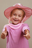 Child in pink Royalty Free Stock Photo