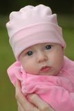 Child in pink. Portrait of the child in pink Royalty Free Stock Photos