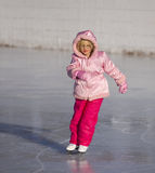 Child in Pink Ice Skating Royalty Free Stock Images