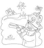 child pirate 免版税库存照片