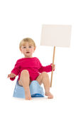 Child place for your advertisement Stock Photo