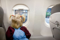 Child in the plane Stock Photography