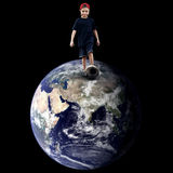 Child on the planet Royalty Free Stock Photo