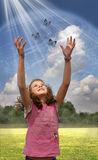 child planet earth Royalty Free Stock Image