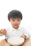 Child and plate Stock Photo
