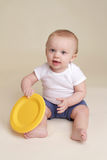 Child with Plate, Baby Eating and Nutrition royalty free stock image