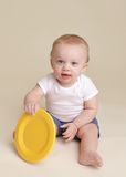 Child with Plate, Baby Eating and Nutrition stock photos