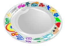 Child plate Royalty Free Stock Photography