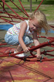 Child Play. Sunny day in the park with children playing Royalty Free Stock Photos