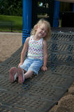 Child play. A child or children at play outdoors in a park Royalty Free Stock Photos