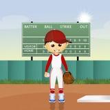 Child play baseball Stock Images