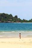 Child play on the beach Royalty Free Stock Photos