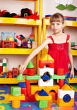 Child play block and construction set. Royalty Free Stock Images