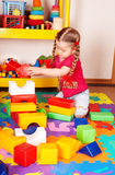 Child play block and construction set. Royalty Free Stock Photography