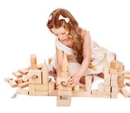 Child play building blocks. Stock Images