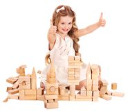 Child play building blocks. Stock Image