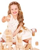 Child play building blocks. Royalty Free Stock Photos
