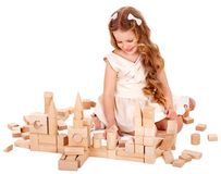 Child play building blocks. Royalty Free Stock Image