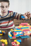 Child play with children's constructor toys Stock Image