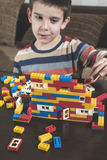 Child play with children's constructor toys Stock Images