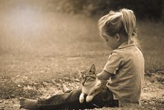 Child Play Happy Cat royalty free stock photos