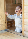 Child in play house Royalty Free Stock Images